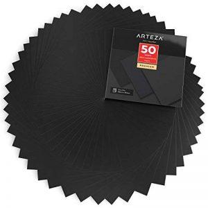 Arteza 50 Feuilles de Vinyle Auto-Adhésives Noires Mate Haute Qualité 30.5 X 30.5 cm (En Boite de 50 feuilles) de la marque ARTEZA® image 0 produit