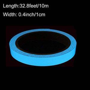 ARTGEAR Glow in the Dark Tape, Lumineux Ruban Adhésif Autocollant, Ruban Phosphorescent, Fluorescente Nuit Autocollant, Amovible, Imperméable à L'eau, Photoluminescent, 10M x 1CM (Bleu Ciel) de la marque ARTGEAR image 0 produit