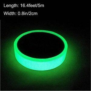 ARTGEAR Glow in the Dark Tape, Vert Lumineux Ruban Adhésif Autocollant, Ruban Phosphorescent, Fluorescente Nuit Autocollant, Amovible, Imperméable à L'eau, Photoluminescent, 5M x 2CM (Vert) de la marque ARTGEAR image 0 produit