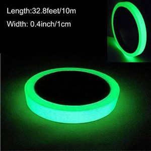 ARTGEAR Glow in the Dark Tape, Vert Lumineux Ruban Adhésif Autocollant, Ruban Phosphorescent, Fluorescente Nuit Autocollant, Amovible, Imperméable à L'eau, Photoluminescent, 10M x 1CM (Vert) de la marque ARTGEAR image 0 produit