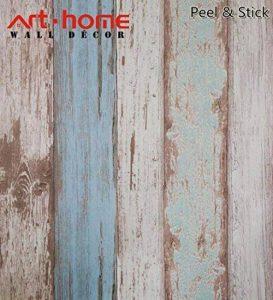Arthome 31,6 pieds carrés bleu déstressé bois décoratif Auto-adhésif Peler et Coller papier peint décor (200-2) de la marque Art & Home image 0 produit