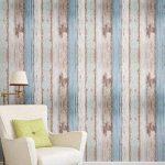 Arthome 31,6 pieds carrés bleu déstressé bois décoratif Auto-adhésif Peler et Coller papier peint décor (200-2) de la marque Art & Home image 1 produit