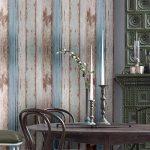 Arthome 31,6 pieds carrés bleu déstressé bois décoratif Auto-adhésif Peler et Coller papier peint décor (200-2) de la marque Art & Home image 4 produit