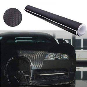 """Audew 12""""x60""""3D Film Vinyle Autocollant Voiture Fibre de Carbone Adhesif Thermoformable Noir de la marque Audew image 0 produit"""