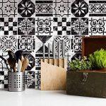 Autocollant Sticker Carrelage | Carreau de ciment adhesif - stickers muraux salle de bain et cuisine | Carrelage autocollant - Design Dessin Marbre - 20x20 cm - 9 pièces de la marque creatisto image 1 produit