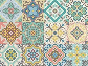 Autocollant Vinyle décoratif Motif carreaux portugais de la collection Belem (12 pcs) (15x15cm) de la marque NossaRua image 0 produit