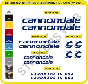 Autocollants vélo CANNONDALE Kit de 12 stickers autocollants pièces-SCEGLI subi COLORE-bike cycle pegatina Cod.0089 de la marque Pimastickerslab image 0 produit