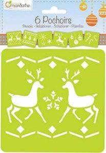 Avenue Mandarine 42647O Un Set De 6 Pochoirs Enfants - Noël 2 de la marque Avenue Mandarine image 0 produit