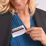 Avery 200 Badges Autocollants en Tissu - 80x50mm - Impression Laser - Blanc (L4785) de la marque Avery image 2 produit