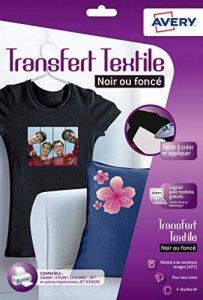 Avery 4 Papiers Transferts T shirt/Textile Noirs ou Foncés - A4 - Jet d'Encre (C9406) de la marque Avery image 0 produit