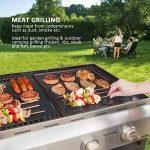 BALFER Tapis de Cuisson Haut de Gamme pour Barbecue et Four Set de 5(40*33 cm), réutilisable, Nettoyage facile et Anti-adhérent, convient pour Barbecue, Avec Pinceaux en silicone Set de 1 de la marque BALFER image 4 produit