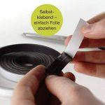 Bande magnétique OfficeTree ® - 3 m - Autocollante pour aimanter photos, notes, ou cadres en toute sécurité – Adhésion extraforte sur tableau blanc, tableau aimanté, tableau noir - noir de la marque OfficeTree image 2 produit