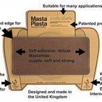 Beige MastaPlasta Self-Adhesive Leather Repair Patches. Choose size/design. First-aid for sofas, car seats, handbags, jackets etc. (BEIGE SUPER-PLAIN 20cmx10cm) de la marque MastaPlasta image 1 produit