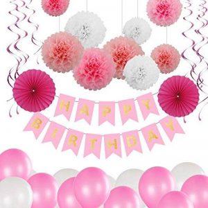 Bliqniq 15x fleurs en papier de soie pour la décoration de la noce,du baby shower.Blanc/Rose Clair/Rose(ø20,25,35cm) … de la marque Bliqniq image 0 produit