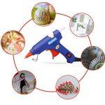 Blusmart Mini pistolet à colle avec 25bâtons de colle Haute température Gâchette flexible pour petits projets de bricolage, d'emballage et petites réparations propres à la maison et au bureau (20W, bleu) de la marque Blusmart image 6 produit