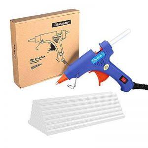 Blusmart Mini pistolet à colle avec 25bâtons de colle Haute température Gâchette flexible pour petits projets de bricolage, d'emballage et petites réparations propres à la maison et au bureau (20W, bleu) de la marque Blusmart image 0 produit