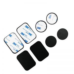BrainWizz Pack 8 Plaques Métalliques pour support voiture aimanté/support voiture magnétique pour Smartphone/téléphone - 3M adhésif - (4 rectangulaires/4 rondes) de la marque BrainWizz image 0 produit