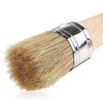 Brosse de peinture à la craie pour peinture et épilation à la cire | 40mm en poils naturels rond Cire Brosse pour meubles Peinture, parfait pour meuble bois Pochoirs Décoration de maison de la marque A+Selected image 2 produit