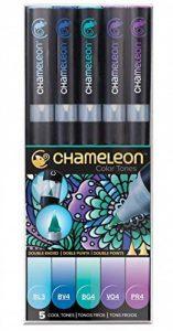 Chameleon Art Products - Marqueurs Chameleon Pens, 5 marqueurs à base d'alcool; Tons Froids de la marque CHAMELEON image 0 produit