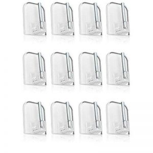 Com-Four® 12x Crochets à rideau autocollant pour vitrage tringles Format Économe en Transparent de la marque com-four image 0 produit