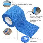COMOmed Tissus non tissés pansement bandage pansements adhésifs Bandage animal ,Bandage auto-adhésif élastique 7.5 cm X4.5m Noir 6 Volume de la marque COMOmed image 3 produit