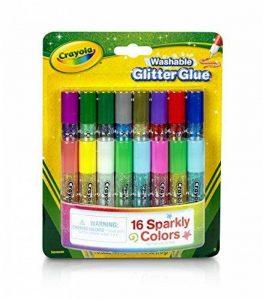 Crayola - 69-4200-E-000 - Loisir Créatif - 16 Mini Colles Pailletées Lavables de la marque Crayola image 0 produit