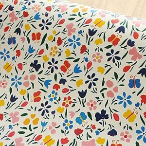 décoratifs Motifs papillon floral Contact papier autocollant en vinyle étagère Doublure de tiroir pour armoires étagères tiroir Commode Arts and Crafts Autocollant 45x 199,9cm de la marque glow4u image 0 produit