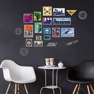 DecalMile Timbre Tour Eiffel Big Ben Stickers Muraux Amovible Vinyle Autocollant Stickers Pour Le Salon Chambre de la marque DecalMile image 0 produit