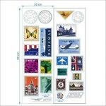 DecalMile Timbre Tour Eiffel Big Ben Stickers Muraux Amovible Vinyle Autocollant Stickers Pour Le Salon Chambre de la marque DecalMile image 4 produit