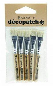 Decopatch PACKPC05O Pack de 5 Pinceaux en soie 7 x 1 x 14 cm Beige de la marque Decopatch image 0 produit