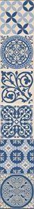 Décoration adhésive pour CARRELAGE Carreaux de Ciment, Polyvinyle, Bleu/Beige, 15 x 15 x 0.1 cm de la marque Décoration adhésive pour CARRELAGE image 0 produit