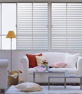 DuoFire Film pour Fenêtre Intimité Film pour Vitre Fenêtre Décoratif Film pour fenêtre Electrostatique Autocollant de Fenêtre Film Anti-UV (60cm X 200cm, DP040) de la marque DuoFire image 0 produit
