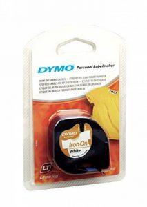 Dymo LetraTag Ruban Textile 1,2 cm x 2 m - Noir sur Blanc de la marque DYMO image 0 produit