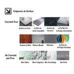 Ecoart 3D Autocollant Mural Imperméable Auto-adhésif en mosaïque pour la salle de bain et la cuisine Noir, gris et blanc 25.4 x 25.4cm Lot de 6 de la marque Ecoart image 5 produit