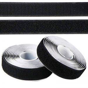 EDGEAM Bandes scratch adhésif Hook Loop Autocollante 20mm large (2 Meters, Noir) de la marque EDGEAM image 0 produit