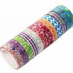 Ensemble de 48 rouleaux de ruban adhésif Washi - 8mm de large, design floral coloré, ruban masque décoratif pour le bricolage, scrapbooking, emballage cadeau de la marque Aapozz image 4 produit