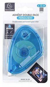 Exacompta 12996E Dérouleur Double Face Permanent Plastique Bleu Turquoise 10 x 7 x 2 cm de la marque Exacompta image 0 produit