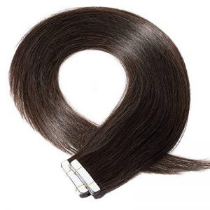 Extensions Cheveux Naturel Bande Adhesives - Tape in Remy Human Hair Extensions - 20PCS - 45CM - #2 CHATAIN FONCE de la marque Elailite image 0 produit
