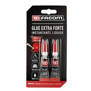 FACOM 84611 Colle cyano liquide 2 x 3 g, Transparent, Set de 2 Pièces de la marque Facom image 0 produit