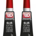 FACOM 84611 Colle cyano liquide 2 x 3 g, Transparent, Set de 2 Pièces de la marque Facom image 1 produit