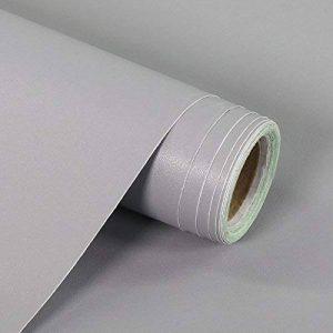 fancy-fix Papier Peint Auto-Adhésif Gris Sticker Muraux Rouleau Vinyle Pour Cuisine Comptoir Top Cabinet Garde-Robe Meuble Armoire Autocollant 44.5 x 300 cm de la marque fancy-fix image 0 produit