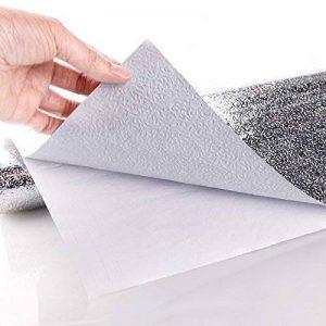 Film en aluminium autocollant pour cuisine, garde-robe - Protection étanche résistante aux huiles et à l'humidité - 40cm x 200cm de la marque LICHI image 0 produit