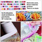 Fipart DIY Peinture diamant point de croix kit d'artisanat ,Salon stickers muraux décor à la maison(16X12inch/40X30CM),Chat de la marque Fipart image 3 produit
