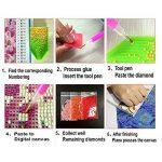 Fipart DIY Peinture diamant point de croix kit d'artisanat ,Salon stickers muraux décor à la maison(16X12inch/40X30CM),Chat de la marque Fipart image 4 produit