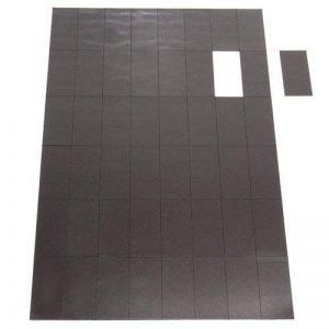 First4magnets FTA45024A-1-AMZ A4 Feuille de 48 rectangles magnétiques auto adhésifs 50 x 24 x 0,7 mm de la marque first4magnets™ image 0 produit
