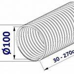 Flexible luftleitungen en aluminium pour. Tube flexible en aluminium Flex Tuyau flexible en aluminium Flex Tuyau d'aération flexible Longueur de 30à 270cm Résiste à la chaleur jusqu'à 300°C. Ø 80100125150mm de la marque MM TECHNIK image 1 produit