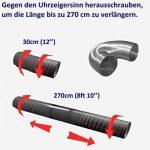 Flexible luftleitungen en aluminium pour. Tube flexible en aluminium Flex Tuyau flexible en aluminium Flex Tuyau d'aération flexible Longueur de 30à 270cm Résiste à la chaleur jusqu'à 300°C. Ø 80100125150mm de la marque MM TECHNIK image 2 produit