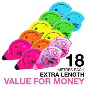 Fullmark Adhésif Permanent/Roller de colle, 10 pièces + 2 gratuites 6 mm x 18 m de la marque Fullmark image 0 produit