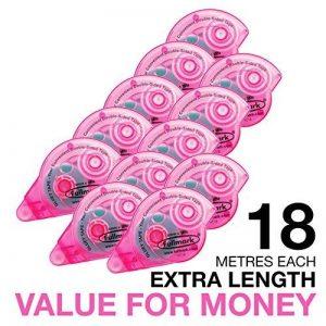 Fullmark Adhésif Permanent/Roller de Colle 10 pièces + 2 gratuites 6 mm x 18 m Rose de la marque Fullmark image 0 produit