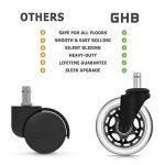 GHB 5pcs Roulettes Chaise Bureau Roulement Silencieux et Résistantes à l'Abrasion de la marque GHB image 3 produit